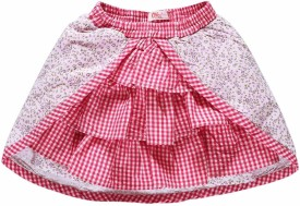 Oye Checkered Girl's A-line Skirt