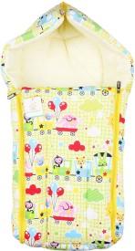 Ole Baby 3 in 1 Cartoon Picnic Train Hooded Reversible Carry Nest cum Baby Sleeping Bag Sleeping Bag
