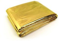 Enem Emergency Mylar Thermal Blankets Heavy Duty 160X210cm For Safety & Survival-Camping, Outdoor Sports, Hiking , Travel- Pack Of 01 Sleeping Bag (Gold)