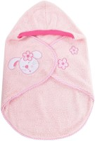 Baby Bucket Soft Wrapper With Cute Rabbit Face Sleeping Bag (Pink)