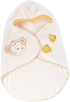 Baby Bucket Soft Wrapper With Cute Monkey Face Sleeping Bag (Cream)