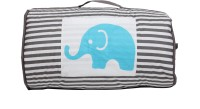 Bacati Elephant Aqua Lime Grey Sleeping Bag (Aqua,Lime, Grey)