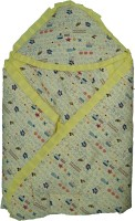 Koochie Koo Alphabat Printed Yellow Baby Wrap With Velcro Sleeping Bag (Yellow)