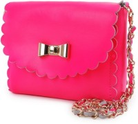 Elizabeth's Tailleur Women Casual Pink Genuine Leather Sling Bag