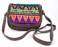 All Things Sundar Women Casual Multicolor Genuine Leather Sling Bag