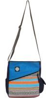 Anekaant Kuttu Free Size Sling Bag (Blue 01)