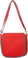 Heels & Handles Women Red, Grey Leatherette, PU Sling Bag
