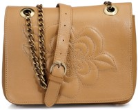 Phive Rivers Genuine Leather - OREORCHIS_PR810 Large Sling Bag - Tan