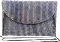 Diwaah Women Evening/Party Silver Cotton Sling Bag