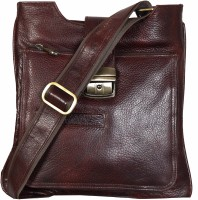 Scharf Men, Women Casual, Formal Brown Genuine Leather Sling Bag