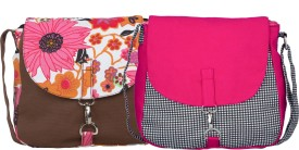 Vogue Tree Women Multicolor Canvas Sling Bag
