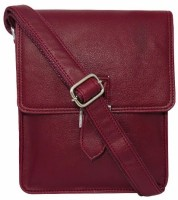 Chimera Leather Men, Women Casual, Formal Maroon Leatherette Sling Bag