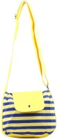 Fabseasons Women, Girls Casual Yellow Cotton Sling Bag