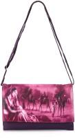 Frosty Fashion Women Casual Purple Genuine Leather Sling Bag