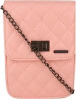 Lino Perros Women Pink Leatherette Sling Bag