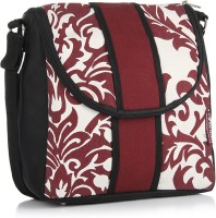 Home Heart Women Casual Black, White, Red Canvas Sling Bag