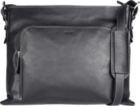 Viari Men Casual Black Genuine Leather Messenger Bag - SLBE9YDCTWCZZ6DX