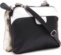 Lavie Women Gold, White, Black Sling Bag