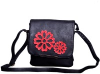 Hysty Women, Girls Casual, Formal, Sports Black Genuine Leather Sling Bag