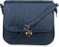 Star Style Women Blue Leatherette Sling Bag