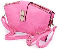 E2O Women Casual Pink Genuine Leather Sling Bag