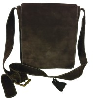 Pranjali Men, Women Casual Brown Genuine Leather Sling Bag