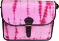 Princesse K Women Casual Pink, Red Silk Sling Bag