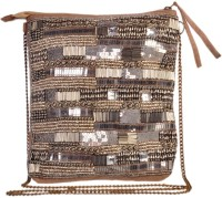 Diwaah The Embellished Medium Sling Bag - Brown