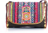 Shaun Design Ethnic Embellished Small Sling Bag - Multicolor, Grey