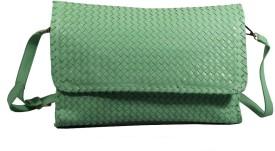 BagsHub Women Green PU Sling Bag