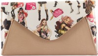 Heaven Deal Women Evening/Party Beige Leatherette Sling Bag