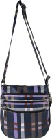 Frosty Fashion Girls, Women Casual Blue, Purple PU Sling Bag