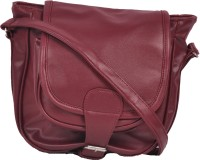 Speed Dot Women Evening/Party Maroon Genuine Leather Sling Bag