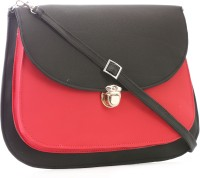 Felicita Women, Girls Casual, Formal, Evening/Party Black, Red PU Sling Bag