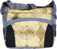 Avani Industries Women Casual Yellow, Grey Nylon Sling Bag