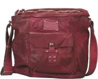 Vilenca Holland Men Casual Maroon Genuine Leather Sling Bag