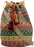 The House Of Tara Printed Medium Sling Bag - Multicolor - SLBEY9TPYEJJEAHA