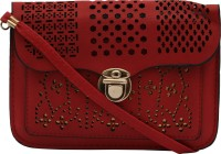 ANICKS Girls, Women Red Genuine Leather Sling Bag