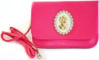 JG Shoppe Women Casual Pink Polyester Sling Bag