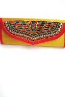 Indian Swan Women, Girls Yellow Cotton Sling Bag