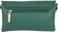 Lino Perros Women Casual Green Leatherette Sling Bag
