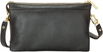 Eskefashions Women Black Genuine Leather Sling Bag