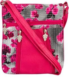BigZee Girls Casual, Formal Pink Rexine Sling Bag