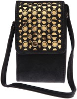 Haute Curry By Shoppers Stop Women Casual Black Leatherette Sling Bag