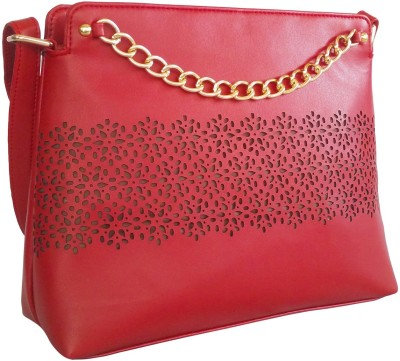 Toteteca Bag Works Women Maroon PU Sling Bag