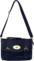 Parv Collections Women Casual Blue Genuine Leather Sling Bag