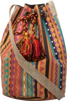 The House Of Tara Printed Medium Sling Bag - Multicolor