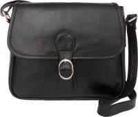 Feliza Girls Casual Black Leatherette Sling Bag