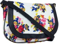 Carry On Bags Spring Floral Small Sling Bag - White