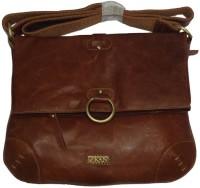 Kan Women Brown Genuine Leather Sling Bag
